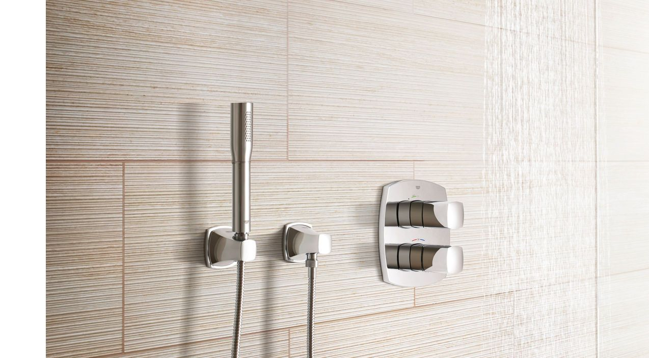 grandera thermostats shower head grohe pinterest. Black Bedroom Furniture Sets. Home Design Ideas