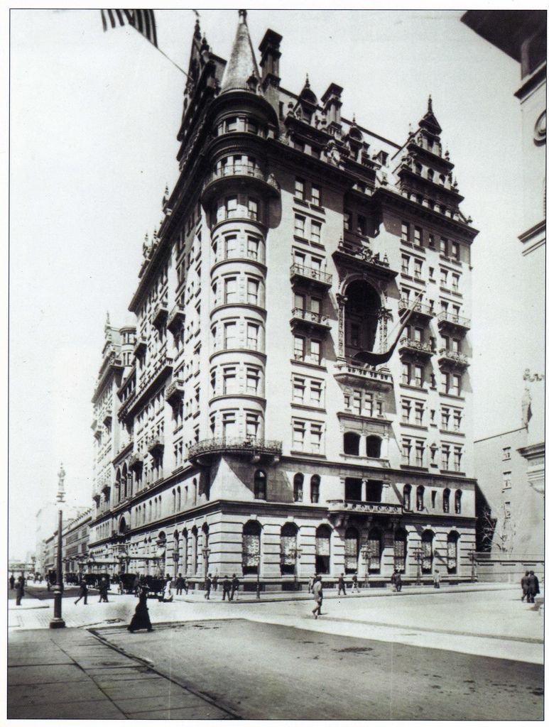 The Original Waldorf Astoria Hotel Now Site Of Empire State Building Started As Two Hotels 13 Story Was Opened In 1893 And