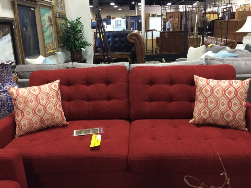 Very comfortable. Rich feeling fabric. Well made couch. It has a matching love seat.