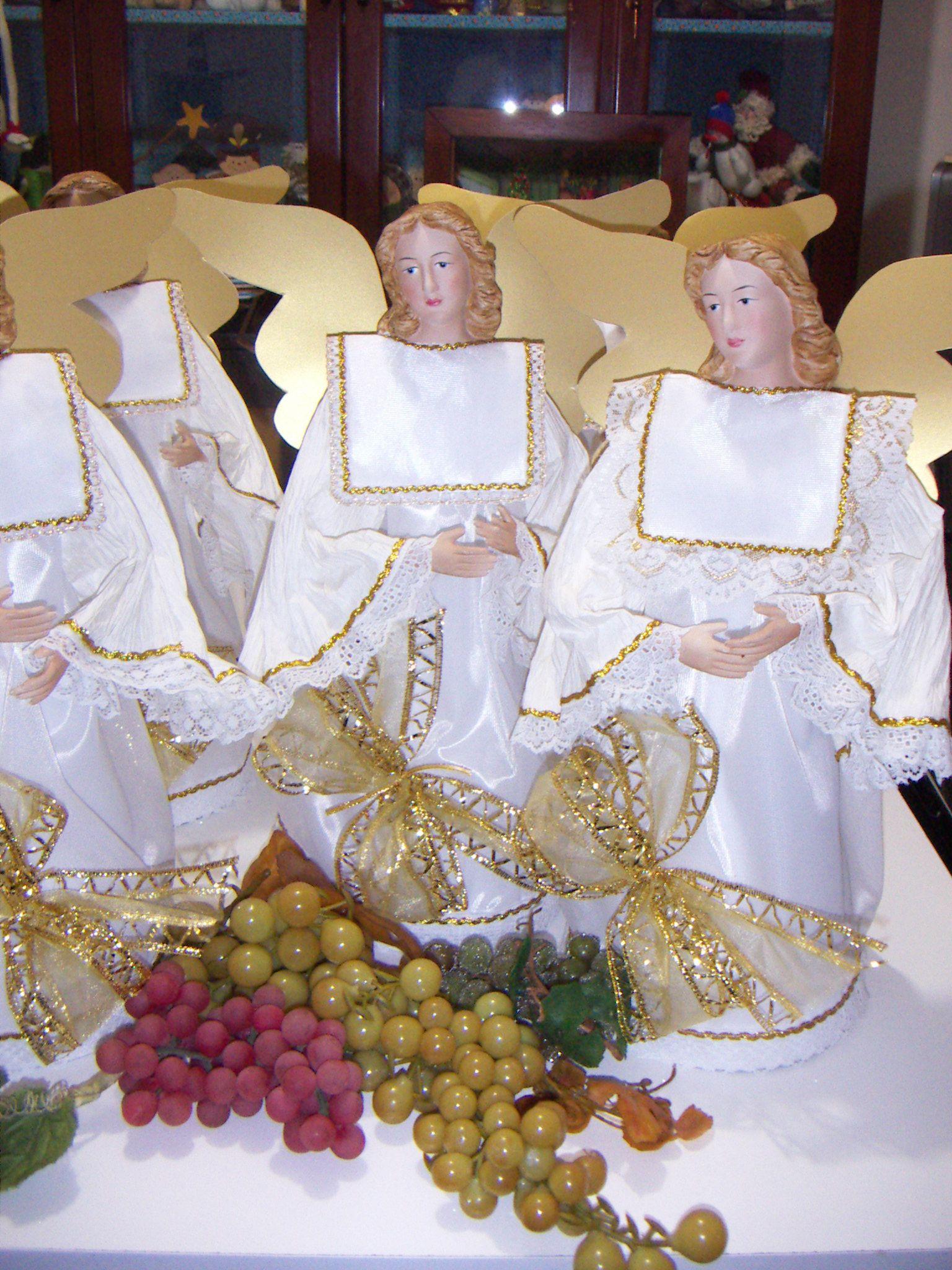 Angeles para decorar centro de mesa en primera comunion - Adornos mesa comunion ...