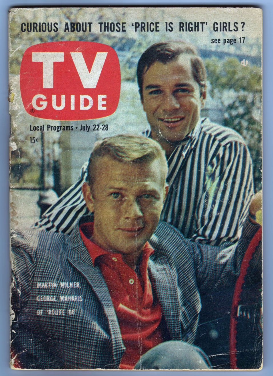 route 66 - tv guide - july 22, 1961 | timeline and memory