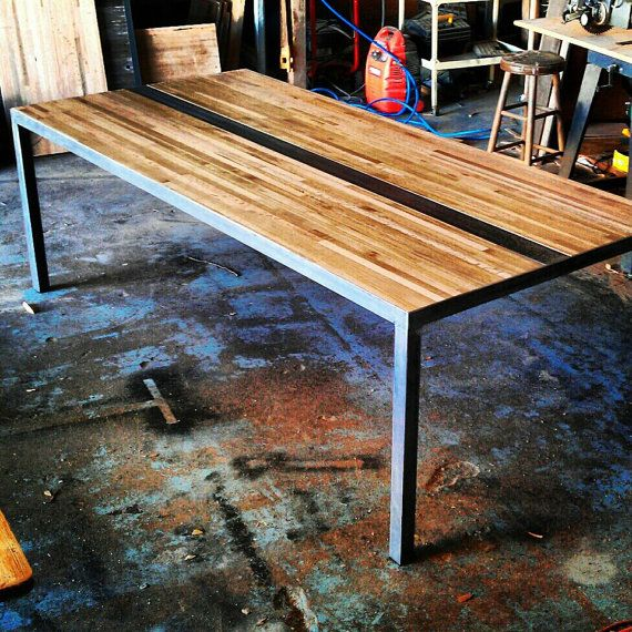 Butcher Block Dining Room Table: Modern Dining/Conference Table Butcher Block Top