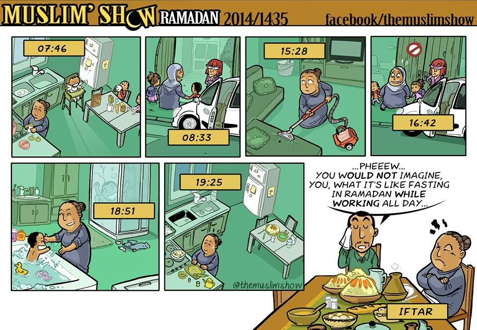 Working Alone Ramadan Iftar Muslim