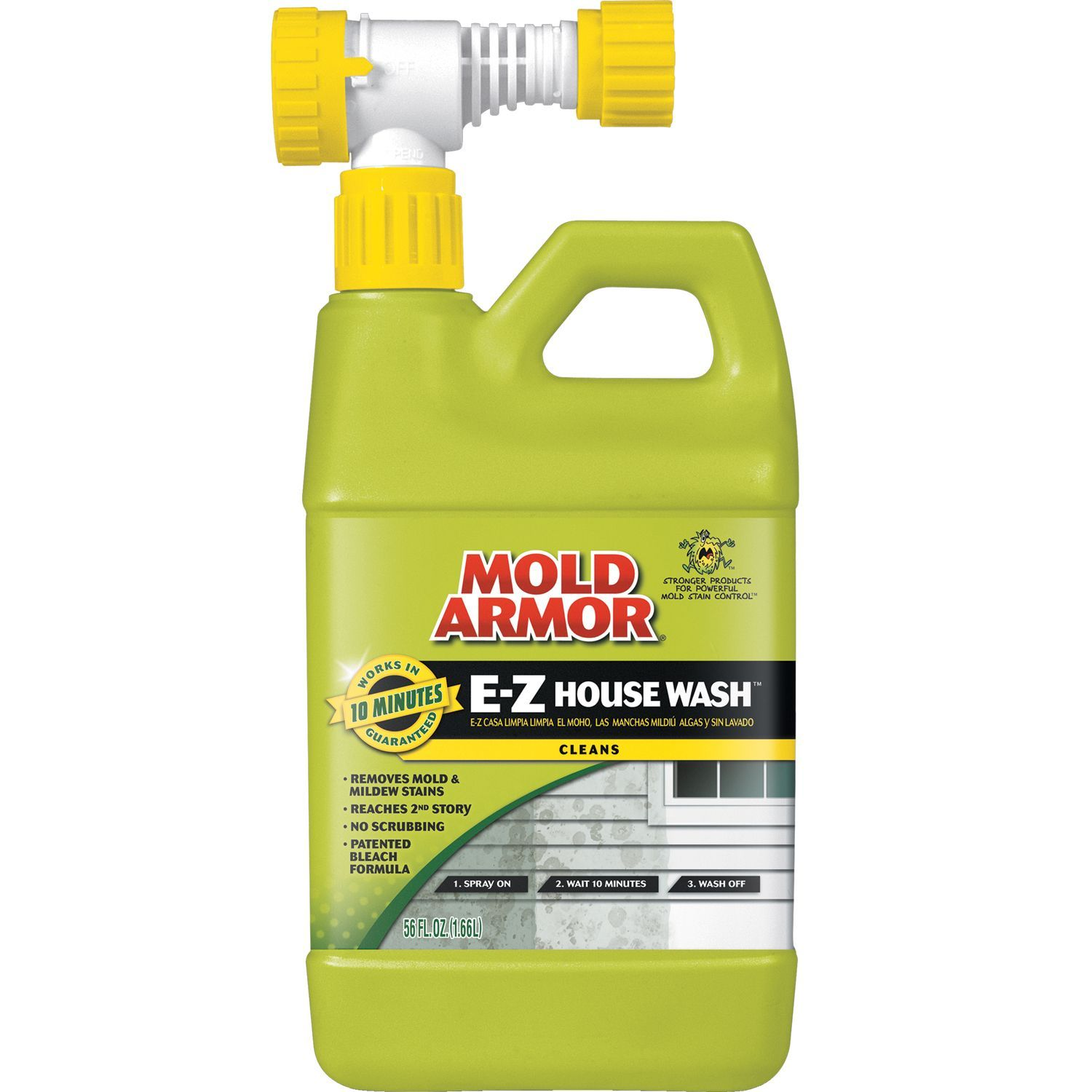 House Wash Removes Dirt And Stains Caused By Mold Mildew And Algae From Exterior Of House Ideal For Use On Wood Vinyl House Wash Mold Remover Mildew Stains