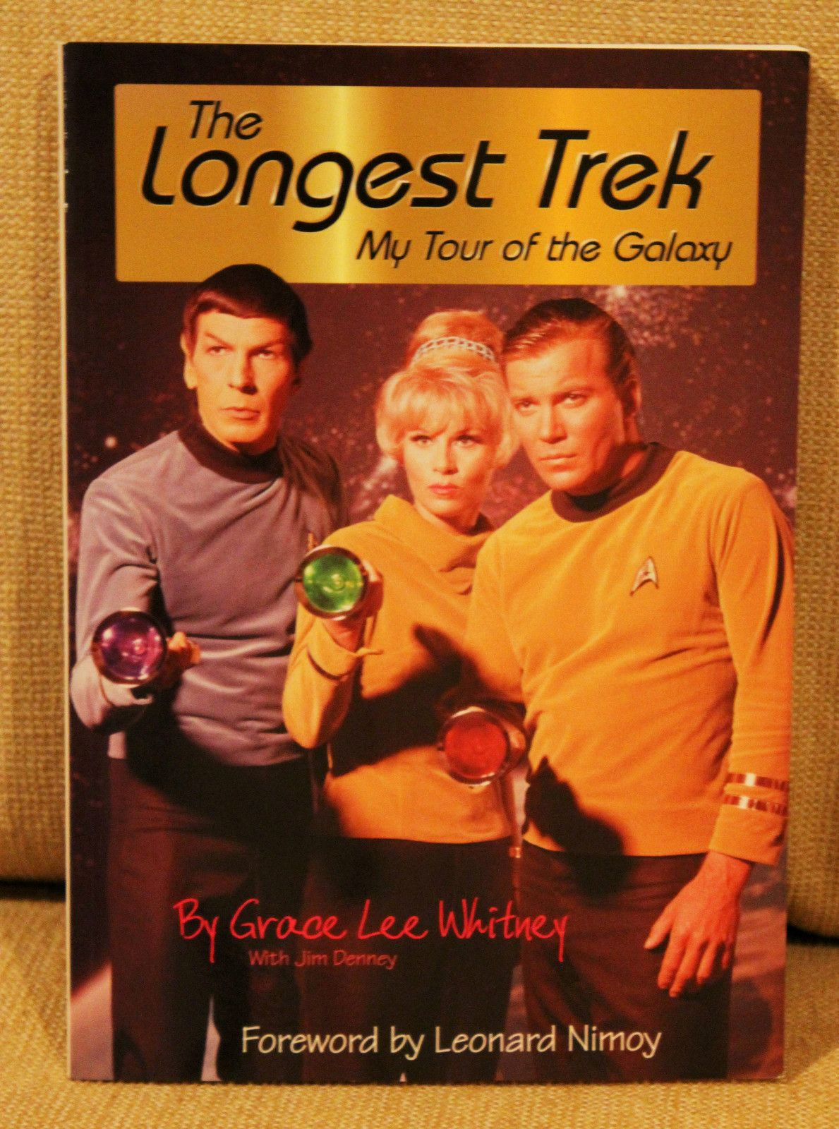 "STAR TREK GRACE LEE WHITNEY ""THE LONGEST TREK""  AUTOGRAPHED - HER BIOGRAPHY"
