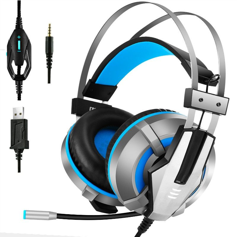 E800 Wired Gaming Headset USB LED Stereo Earphone With