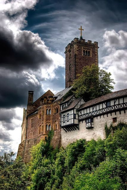 Wartburg Castle In Thuringia Germany Situated On A  M Precipice To The Southwest Of And Overlooking The Town Of Eisenach
