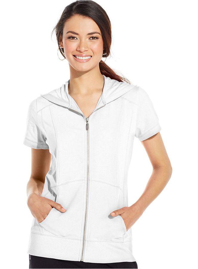 4c292ecfeb0b Style&co. Sport Petite Short-Sleeve Zip-Front Hoodie on shopstyle ...