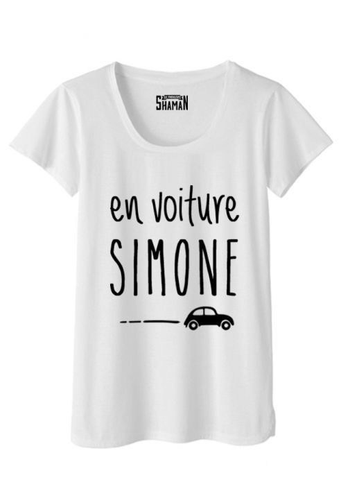 "t-shirt ""en voiture simone"" #expression #humour 