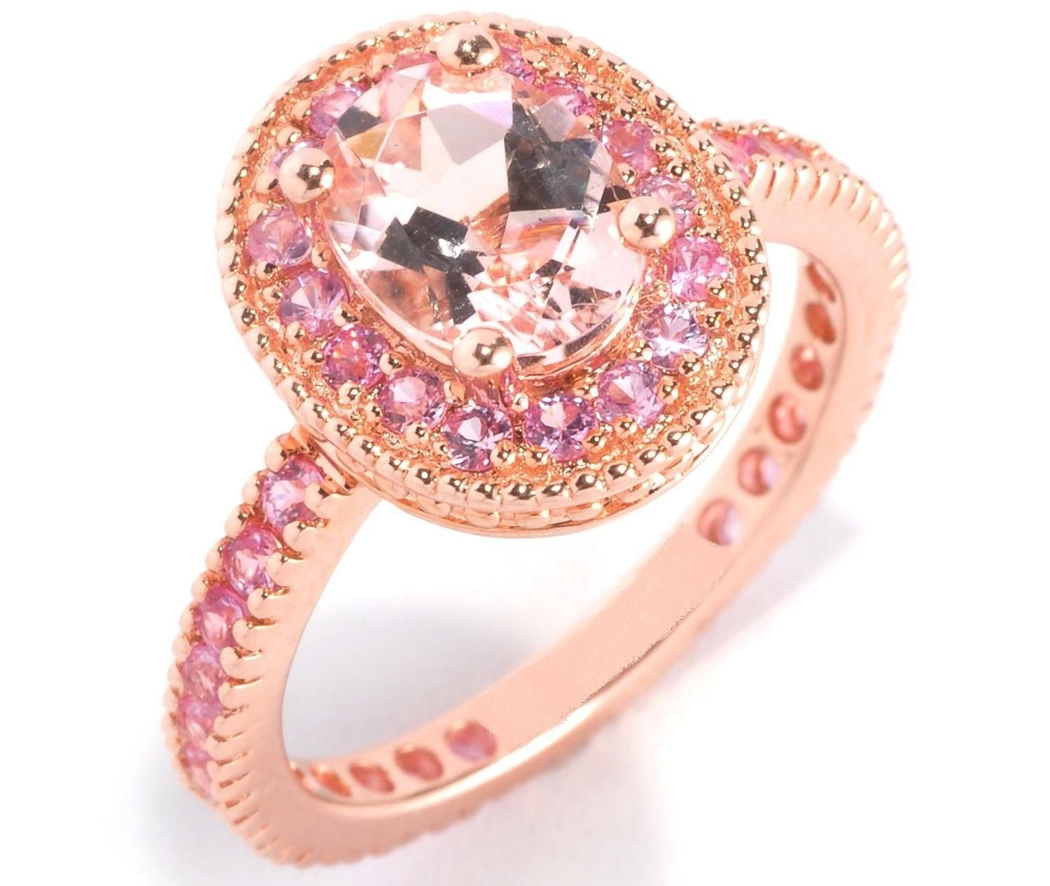 Beautiful Pink Diamond Rings Rose Gold Engagement | Jewelry ...
