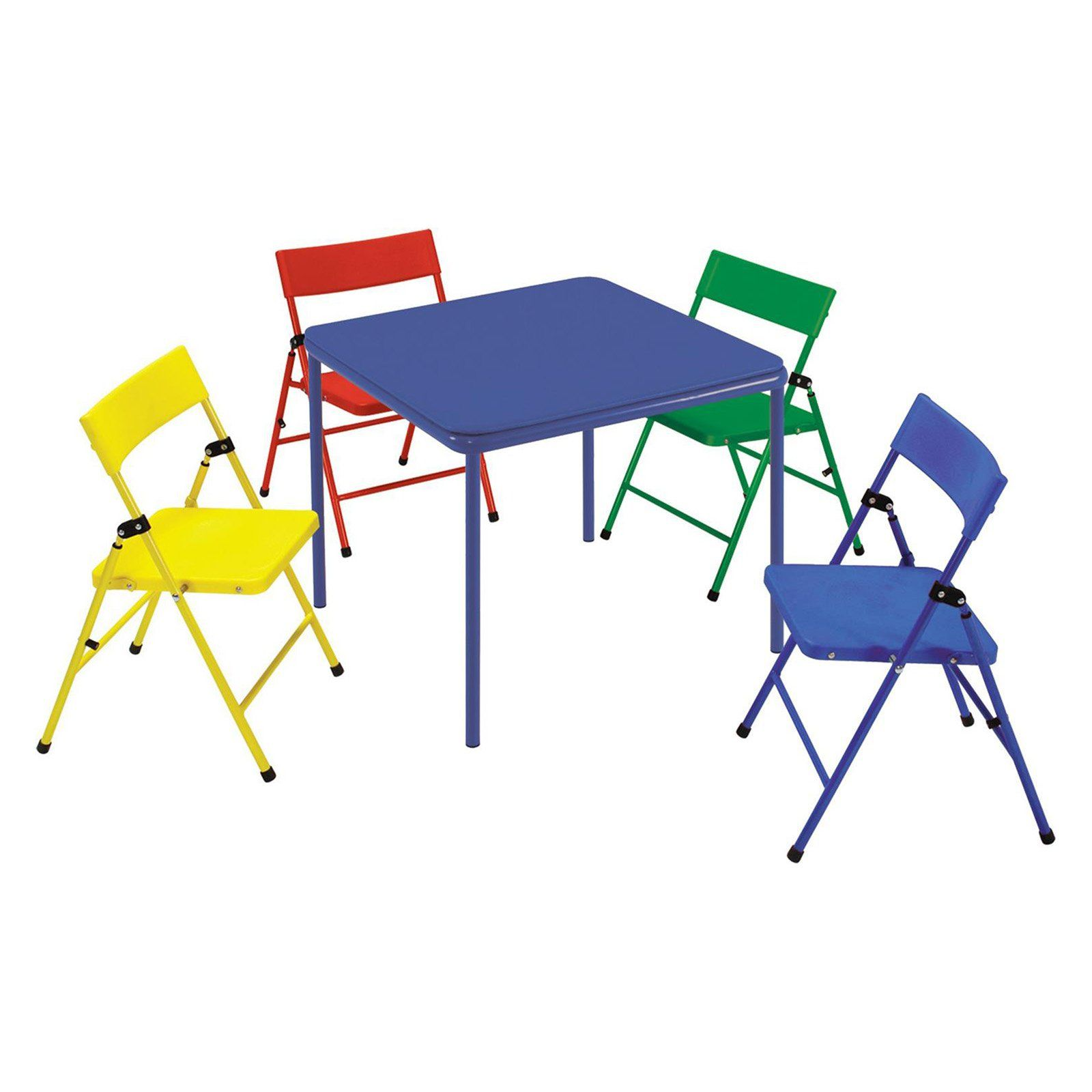 Cosco Folding Table Chair 5 Piece Set Beig Green Table Chair