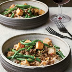 Spicy Green Bean and Tofu Stir-Fry with Ground Bison from Food