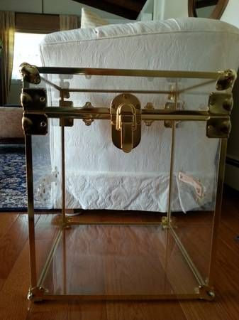 Vintage Clear Lucite / Acrylic Trunk / Chest / Side Table ...