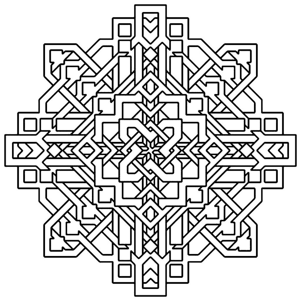 Free Printable Geometric Coloring Pages For Kids | Free printable