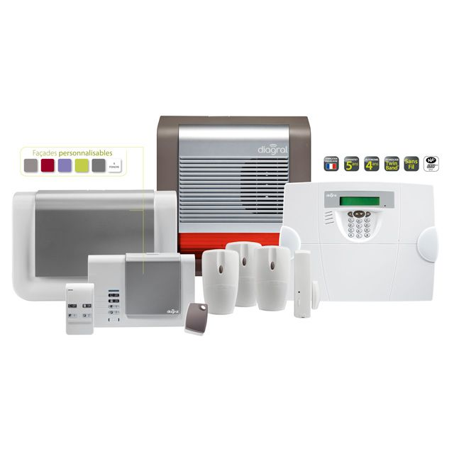 Kit Alarme GSM DIAGRAL   Maison   CASTORAMA