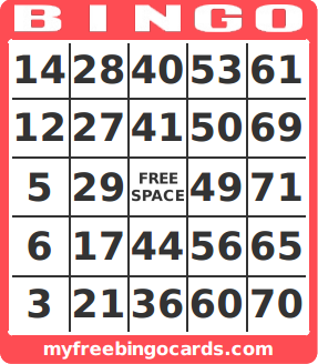 image about Printable Bingo Numbers 1 75 known as no cost printable amount bingo card generator Relatives Reunion