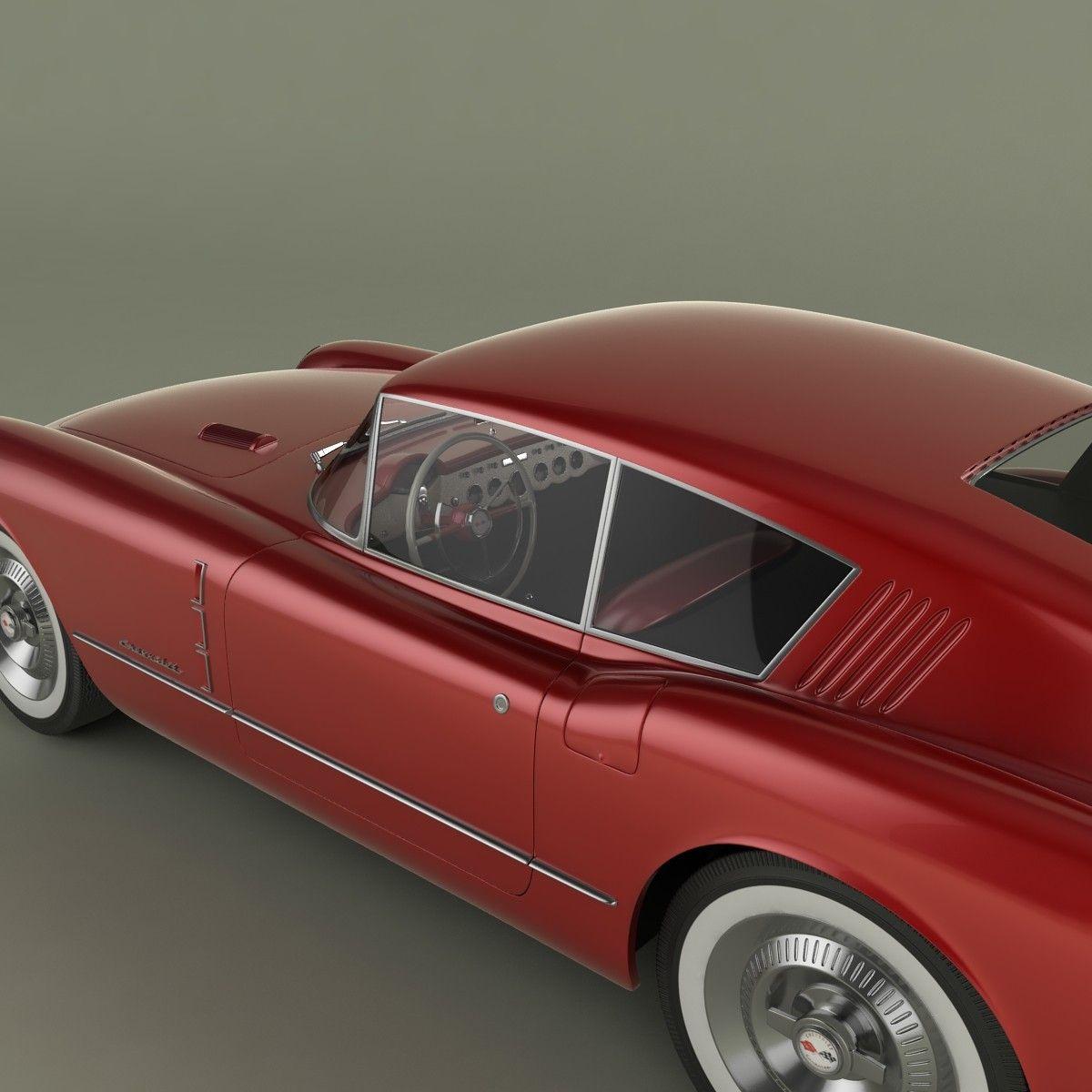 Chevrolet Corvette Corvair Concept Car 3d Model