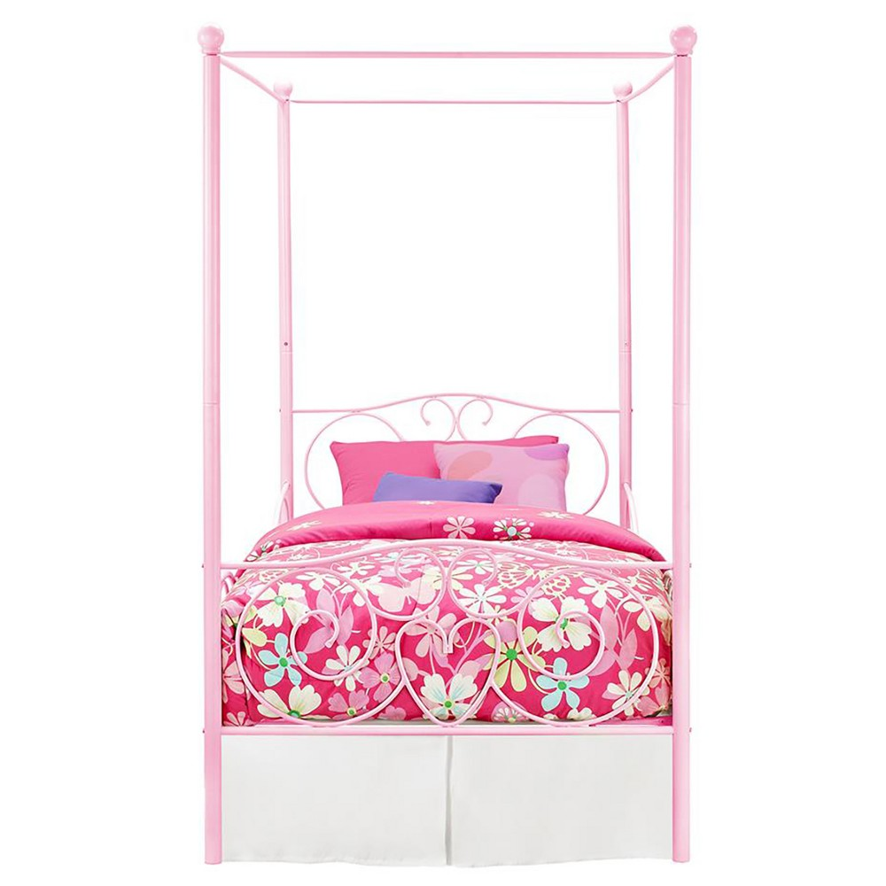 Canopy Metal Bed Twin Pink Dhp Metal Canopy Bed Pink