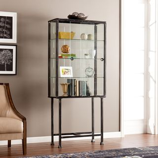 Bon Upton Home Metal/ Glass Sliding Door Display Cabinet | Overstock.com  Shopping