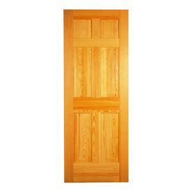Lovely ReliaBilt 6 Panel Solid Core Oak Left Hand Interior Single Prehung Door (