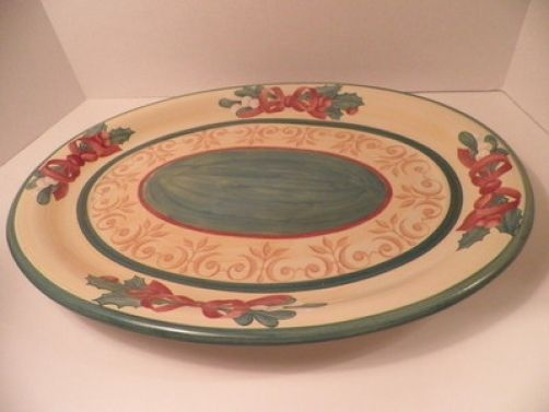 Villeroy & Boch Holiday Turkey Platter Merry Winter Gently Used - Very Large