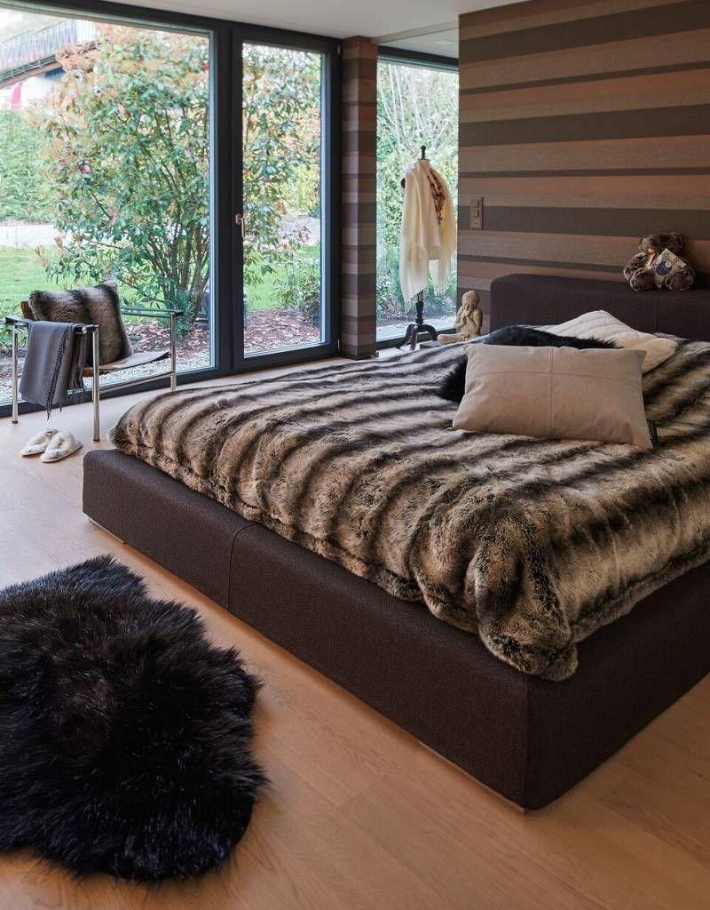 Bontplaid Marmota. Dit luxe plaid is verkrijgbaar in 3 verschillende maten.