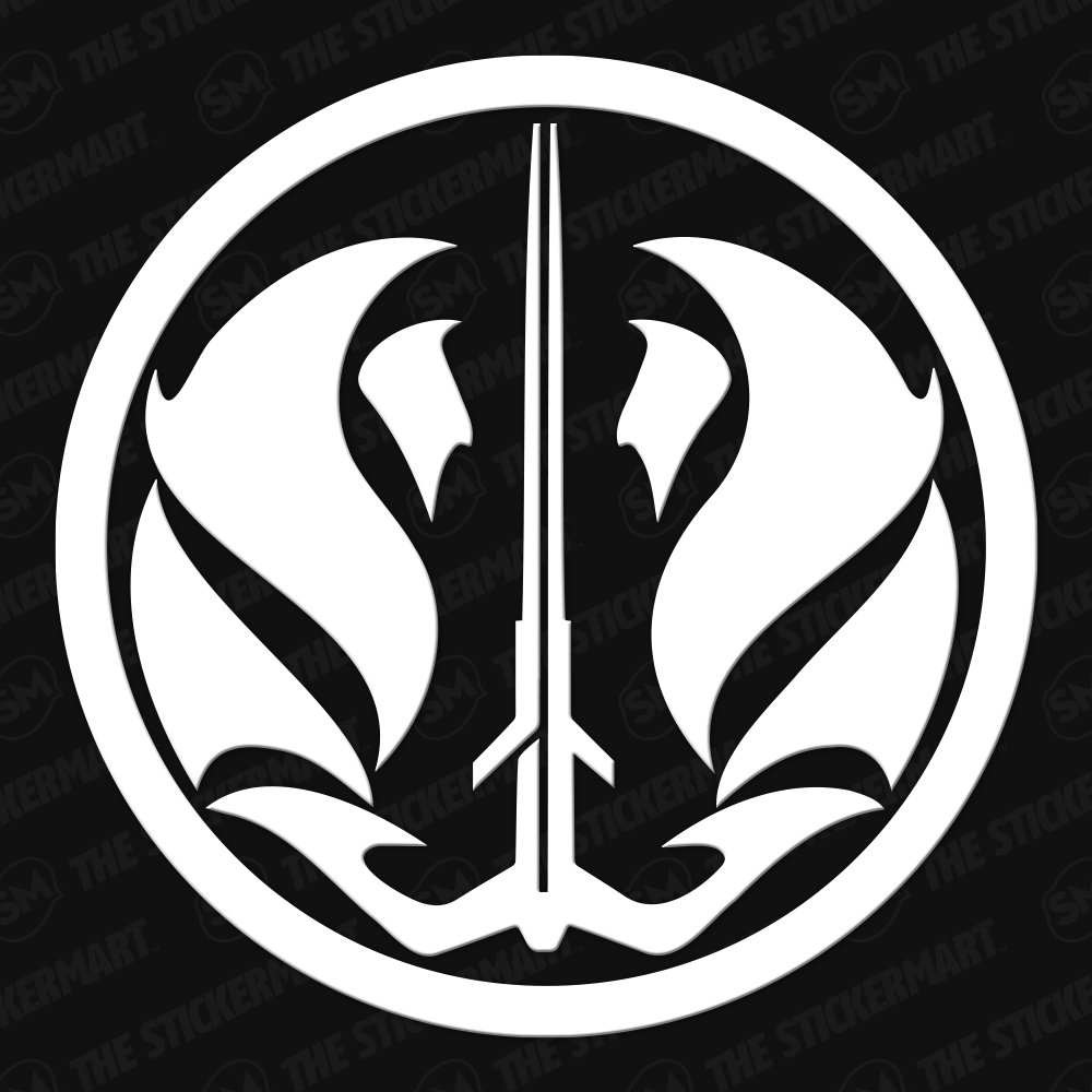 Star Wars Gray Jedi Code Symbol Vinyl Decal Grey Jedi Star Wars Symbols Star Wars Decal