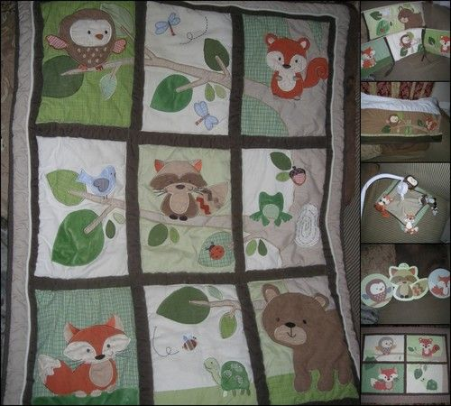 Details About Sweet Jojo Designs Forest Animals Owl Baby