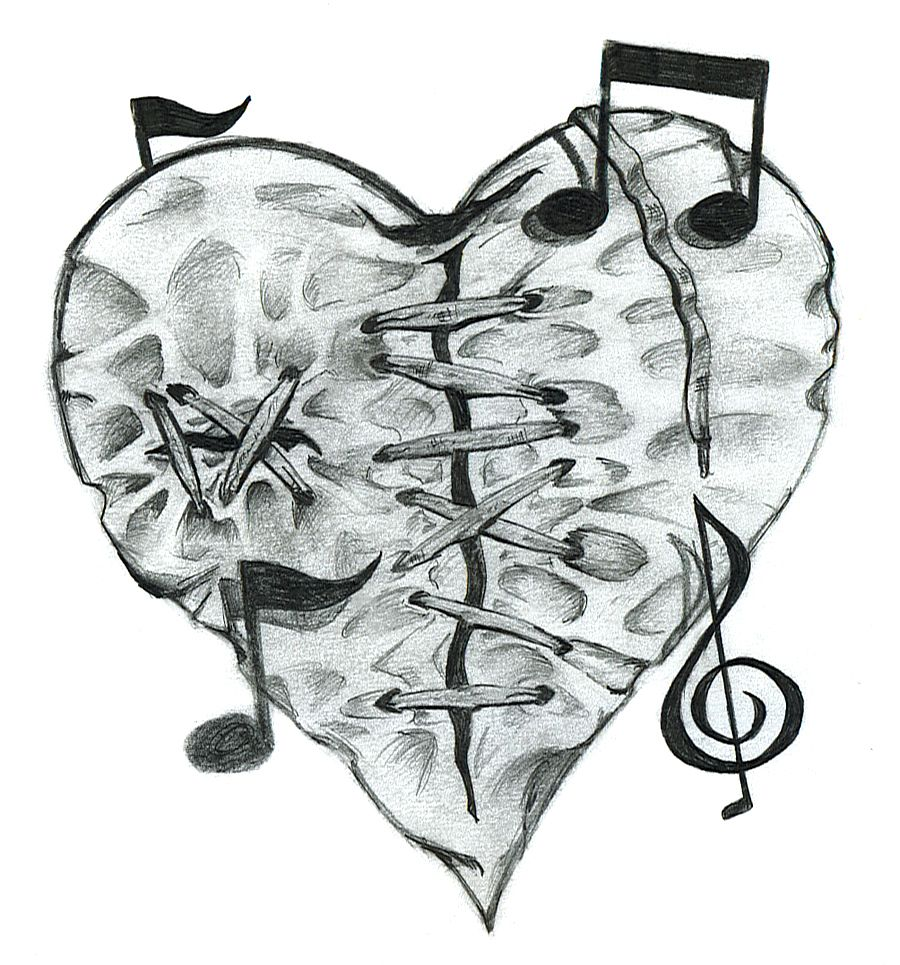 Another Drawing Of Mine 3 3 3 Broken Heart Drawings Heart