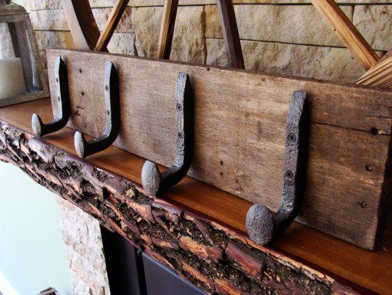 Railroad Coat Rack Rustic Nail Spike Rack Home By