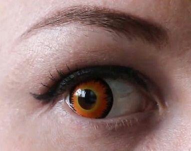 fb0a536864747 Lente laranja Werewolf Lentes de contato com duração de até 3 anos,somos de  São