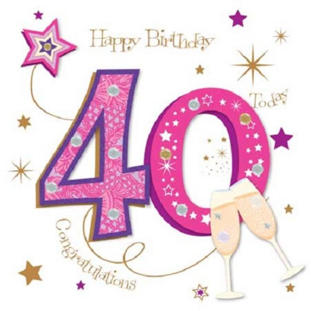 40th Birthday Cards For Husband, Wife, Daughter, Sister