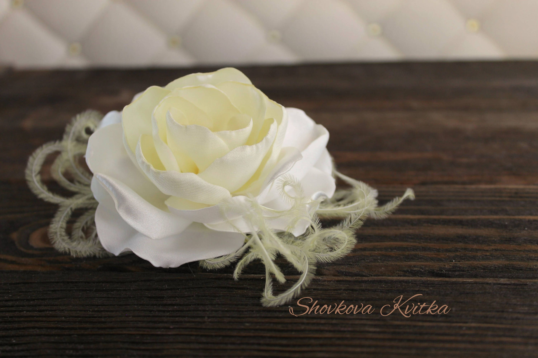 Wedding Yellow Lemon White Flower Hair Piece Bridal Floral