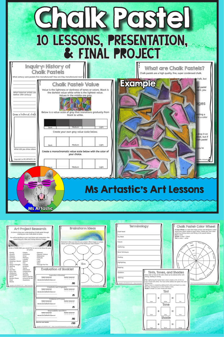 Let Your Student Learn The Basic Of Using Chalk Pastel They Will Be Researching History Past Art Lesson Elementary Projects A Paraphrase Condense Information From Source