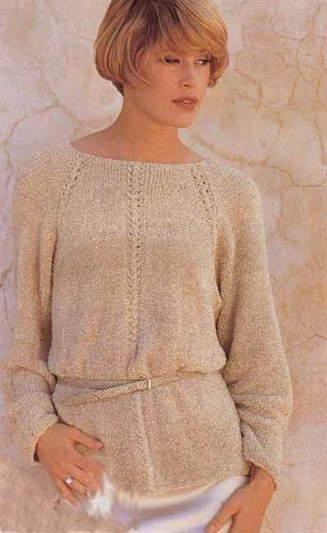 Схема вязания платья регланом