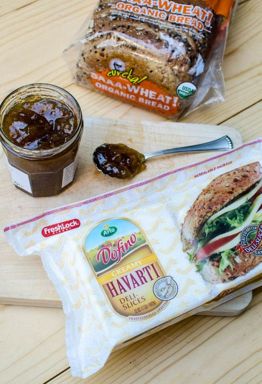 The saltiness of the ham, the creaminess of the Havarti, and the sweetness of the fig preserves...it works! #GooeyGoodness ~ http://www.fromvalerieskitchen.com