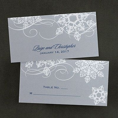 Spinning Snowfall Place Card for holiday party and winter events.  Item Number:KEN22374  $80.90 Per 100