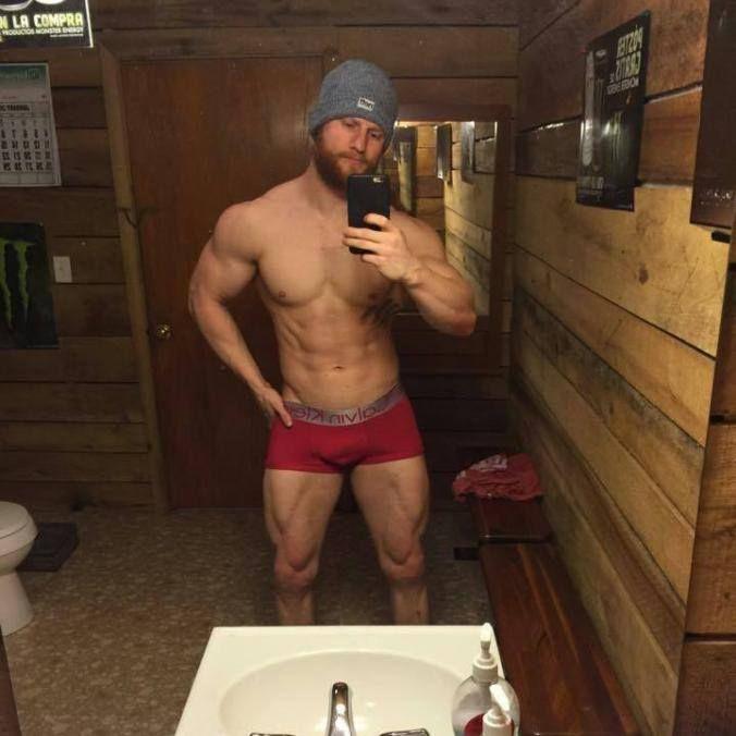 naked men in the sauna