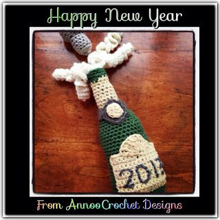 Happy New Year!!!! Chanpagne Bottle Crochet Tutorial By AnnooCrochet Designs