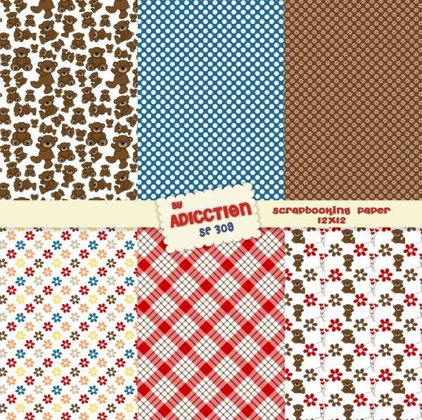 Papeles decorativos para scrapbooking de osos para - Papeles decorativos de pared ...