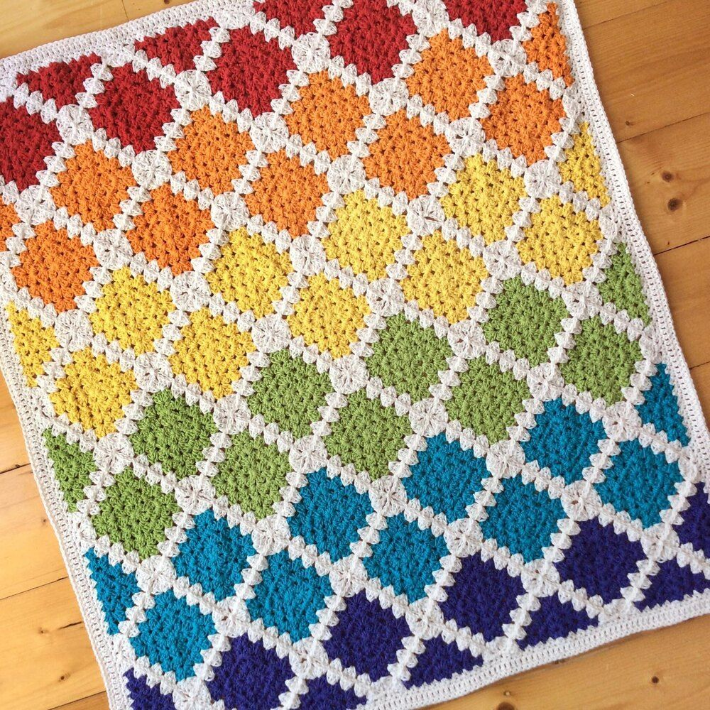 Spin Your Granny Square Crochet pattern by Stitchedupcraft