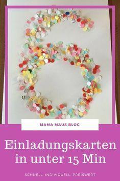 Schnelle Einladungskarten Zum 6. Geburtstag Der Kaisermotte   Mama Maus  Blog. Schnelle Und Preiswerte Einladungen Zum Kindergeburtstag Basteln
