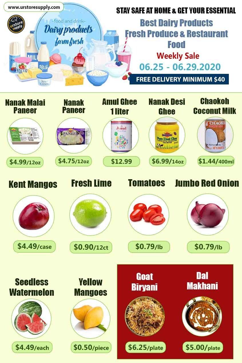 Enjoy this week best dairy products restaurant food sale