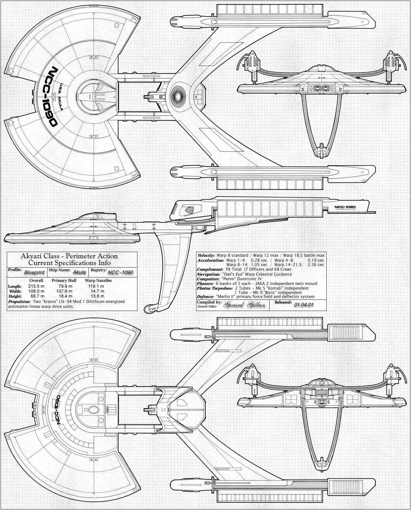 U S S Akula Ncc Star Trek