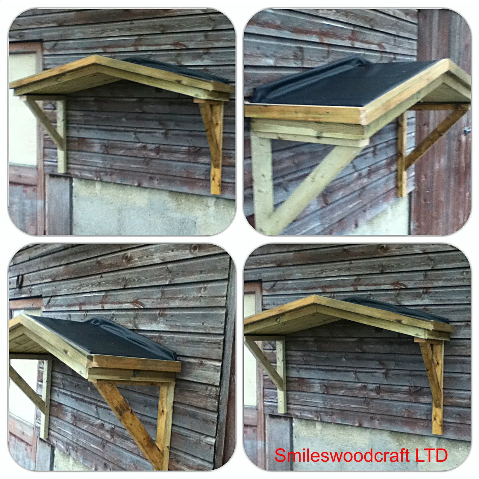 Wooden Front Porch Uk: Timber / Poly Carbonate Open Front Door Canopy Porch
