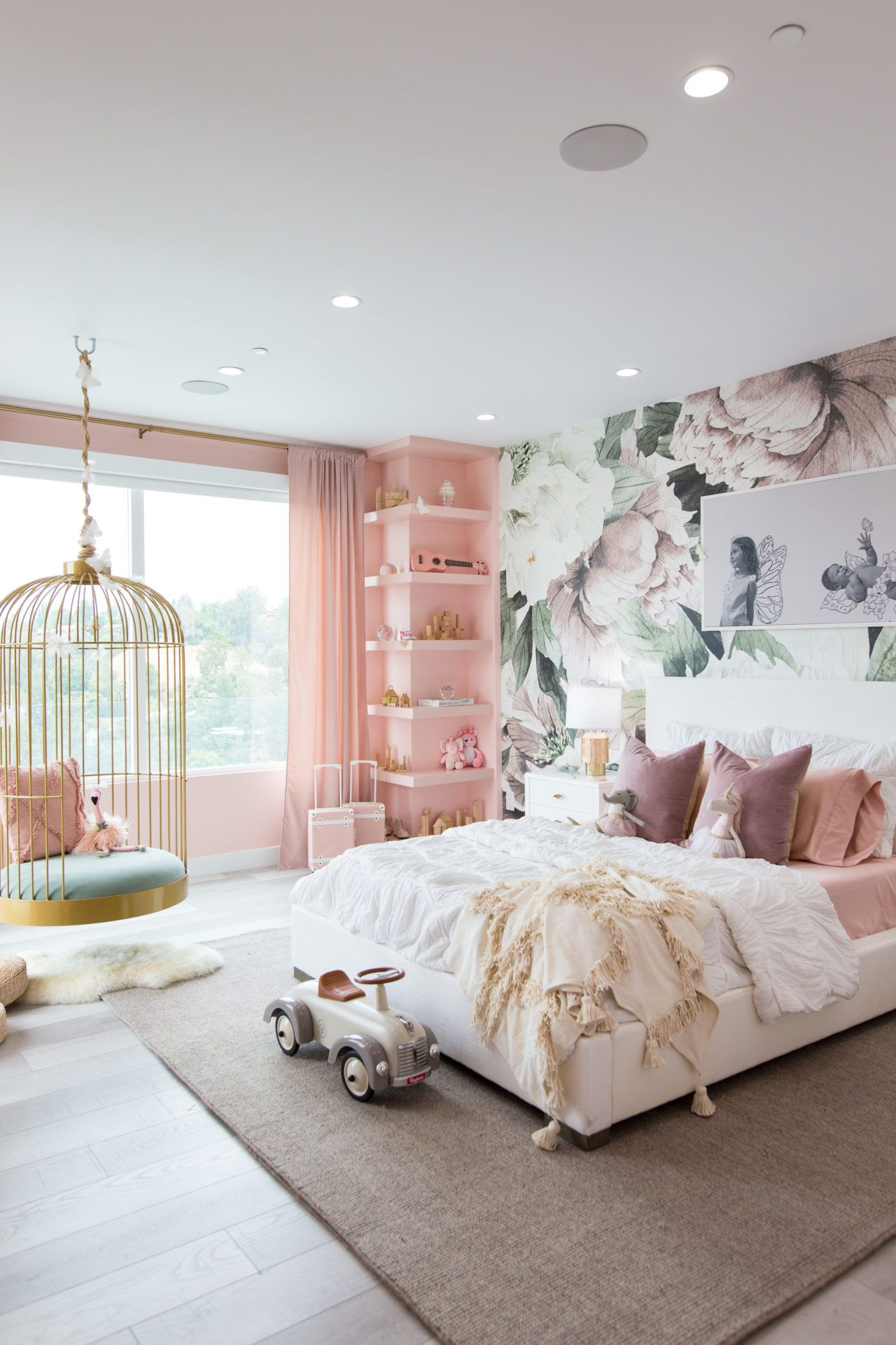 Photo of Dream Butterfly Bedroom & Rainbow Playroom for Elle and Alaia