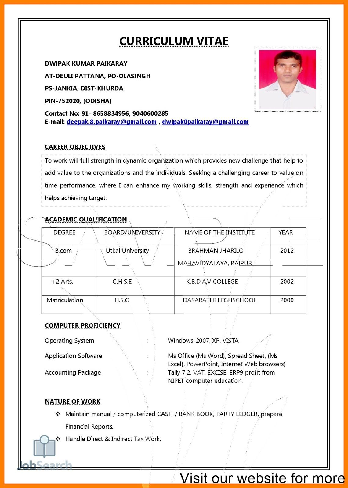 job resume pdf job resume pdf download job resume pdf file