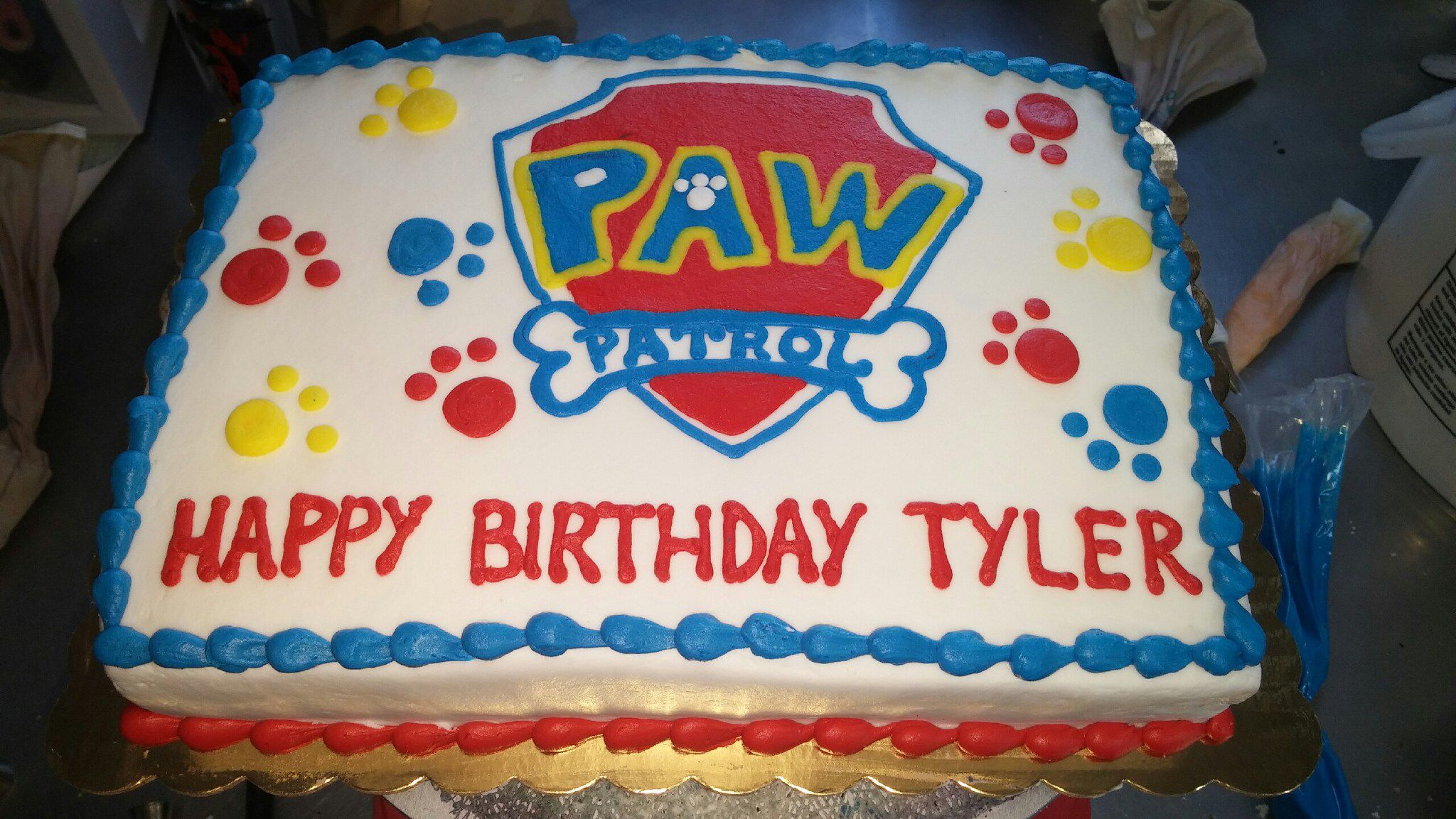 Paw Patrol Sheet Cake From Naegelin S Paw Patrol Birthday Cake