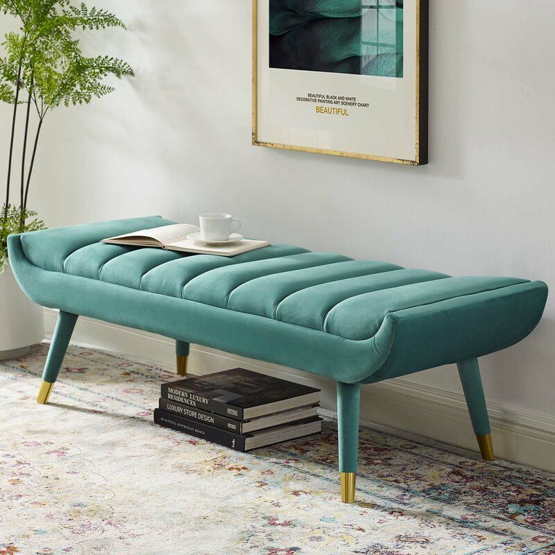Mackay Upholstered Bench In 2021 Upholstered Bench Teal Rooms Teal Room Decor