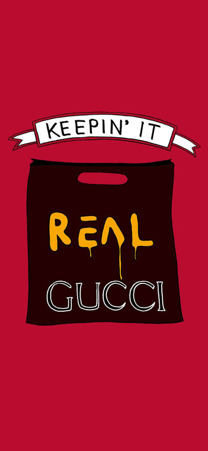 Keepin'IT of Gucci brand luxury Wallpapers for iPhone X